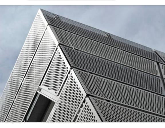 Perforated metal facades at cheap price for export